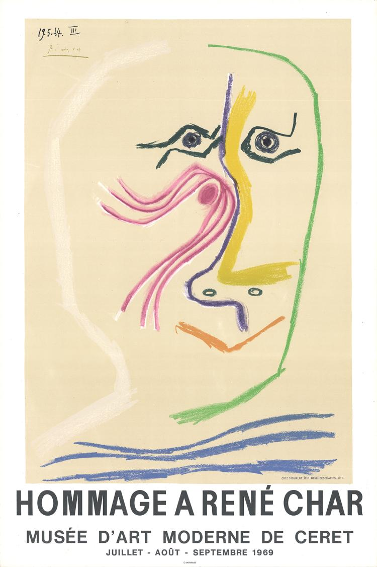 Pablo Picasso - Hommage A Rene Char - 1969