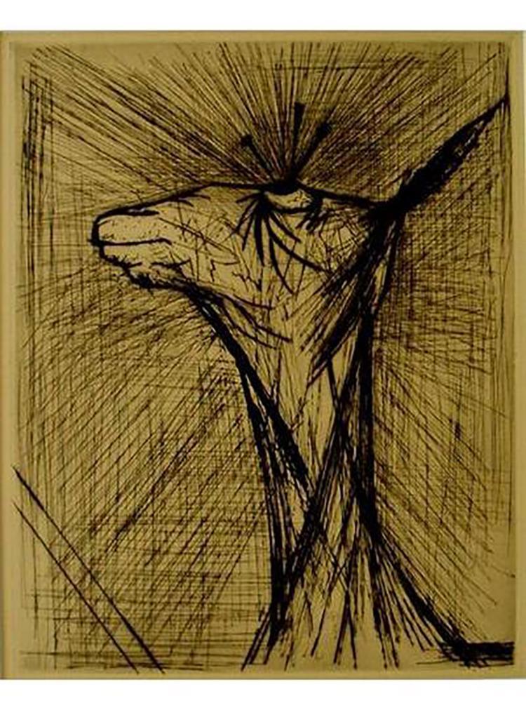 Bernard Buffet - L'agneau Ecorche - 1961