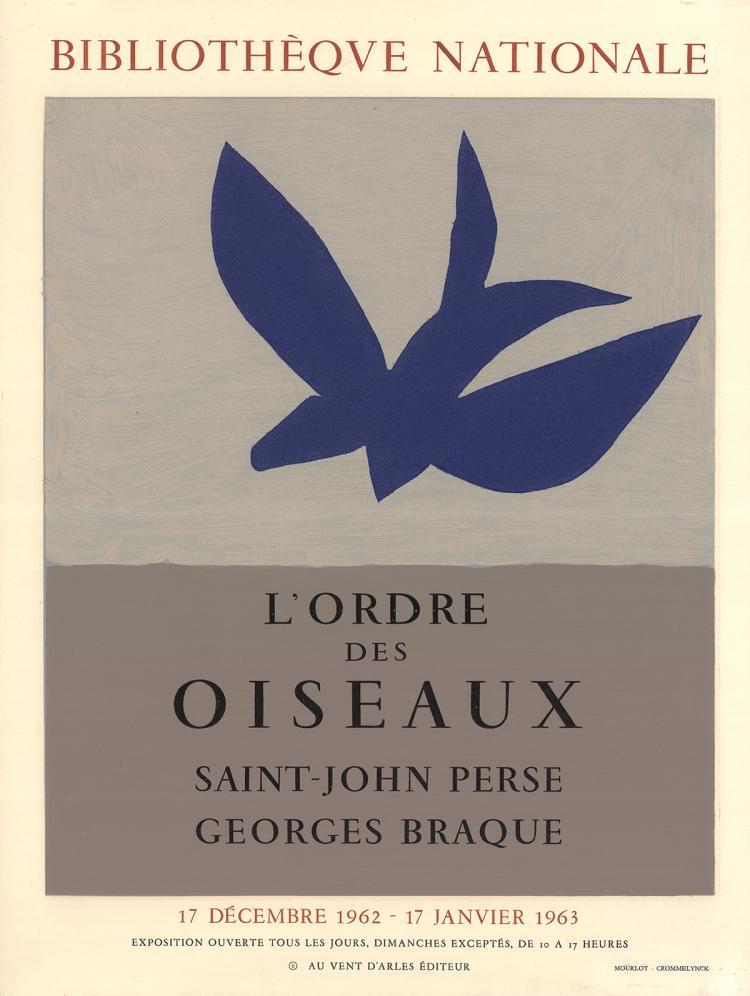Georges Braque - L'Ordre des Oiseaux - 1963