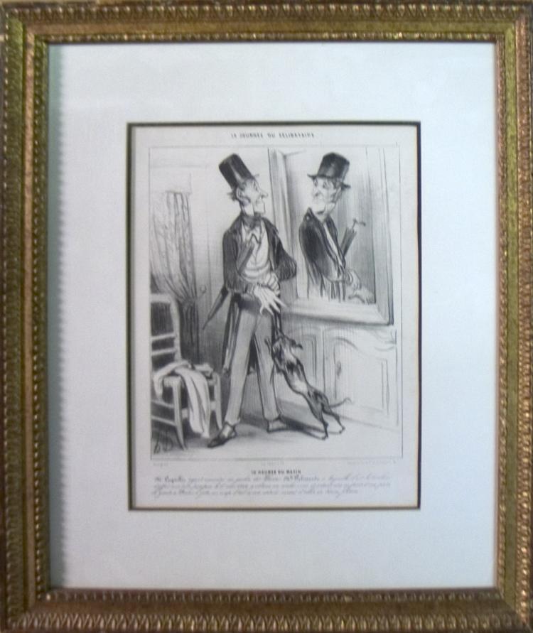 Honore Daumier - La Journee du Celibataire