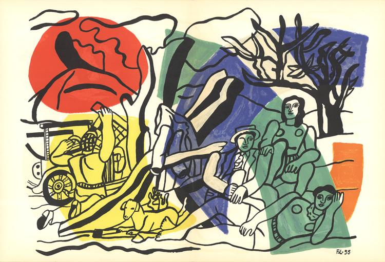 Fernand Leger - La Partiede Campagne - 1960