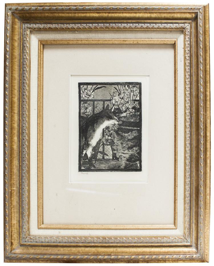 Edouard Manet - Le Chat et les Fleurs - 1869