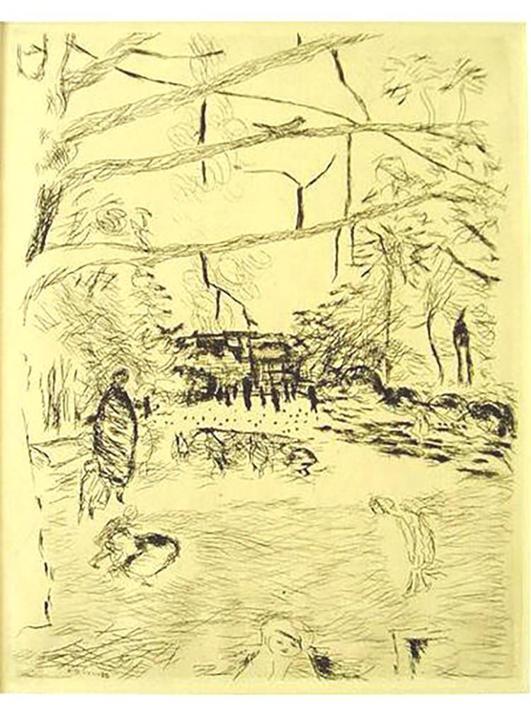 Pierre Bonnard - Le Parc Monceau - 1937