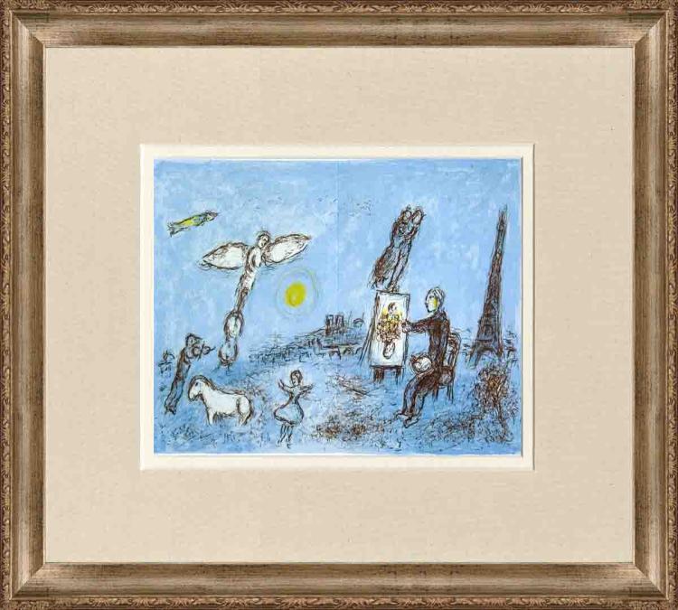 Marc Chagall - Le Peintre Et Son Double - 1981
