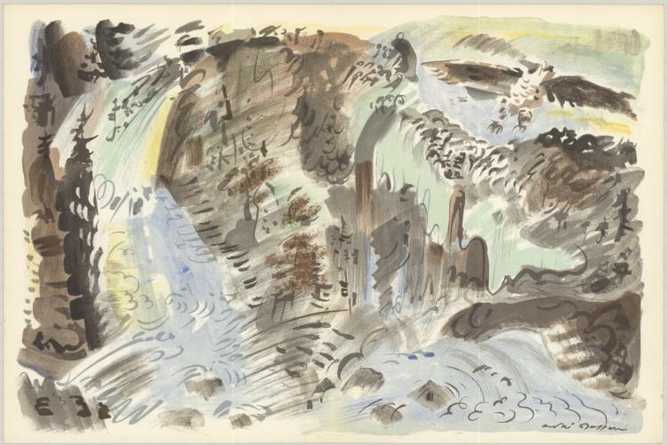 Andre Masson - Le Torrent - 1953