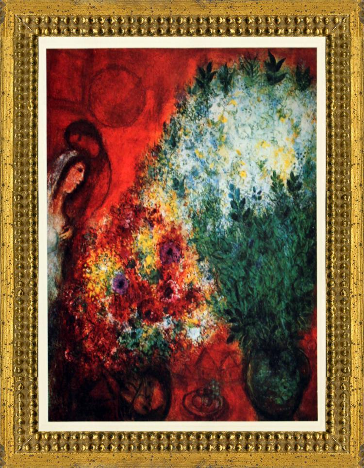 Marc Chagall - Les Deux Bouquets - 1967