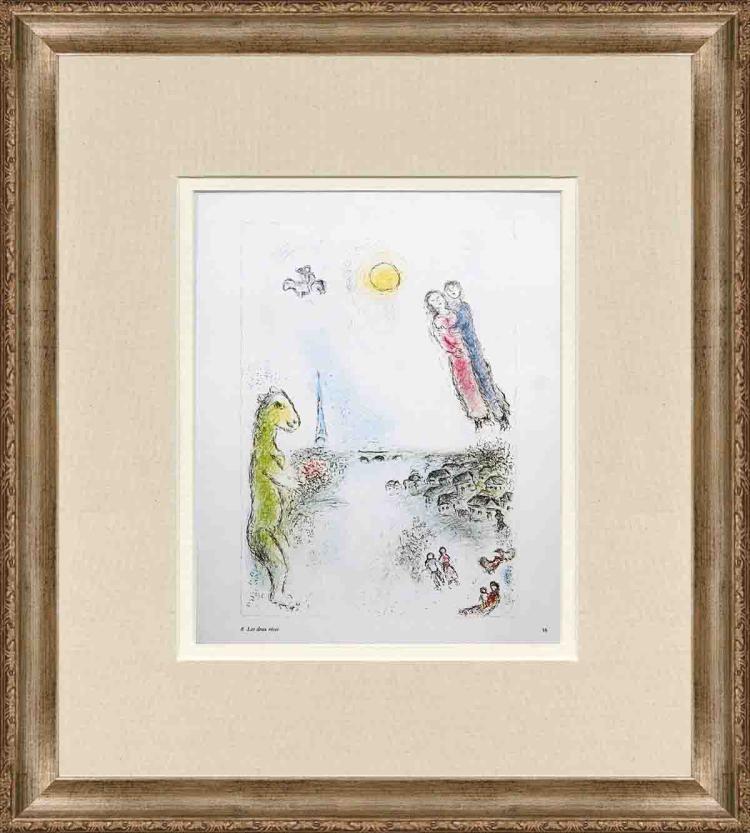 Marc Chagall - Les Deux Rives - 1981
