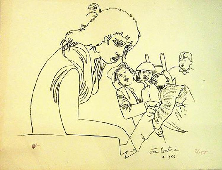 Jean Cocteau - Les Enfants - 1956