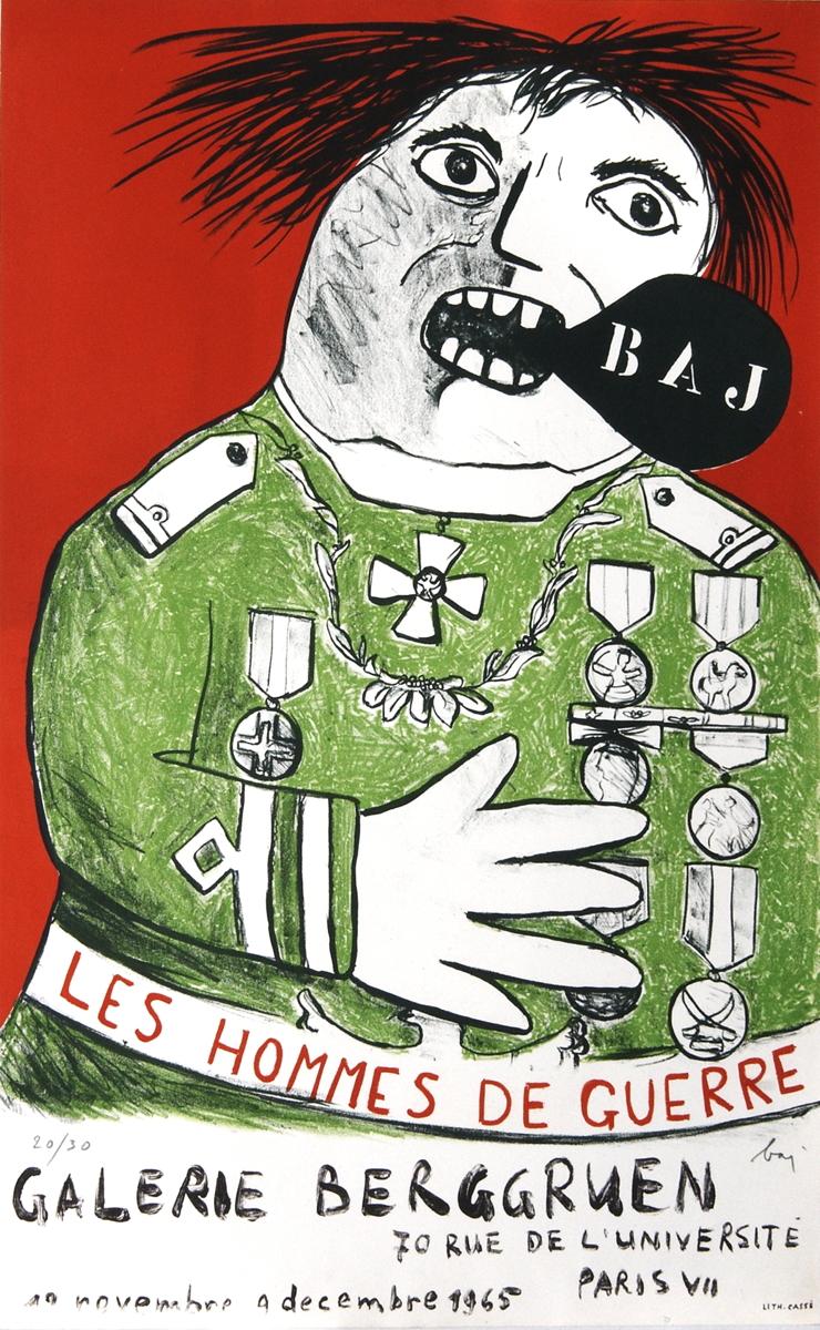 Enrico Baj - Les Hommes De Guerre - 1965 - SIGNED