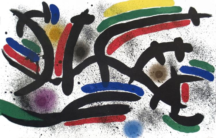 Joan Miro - Lithograph I, Number IX - 1972