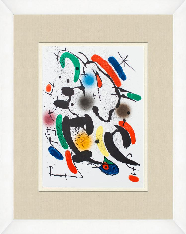 Joan Miro - Litografia original VI