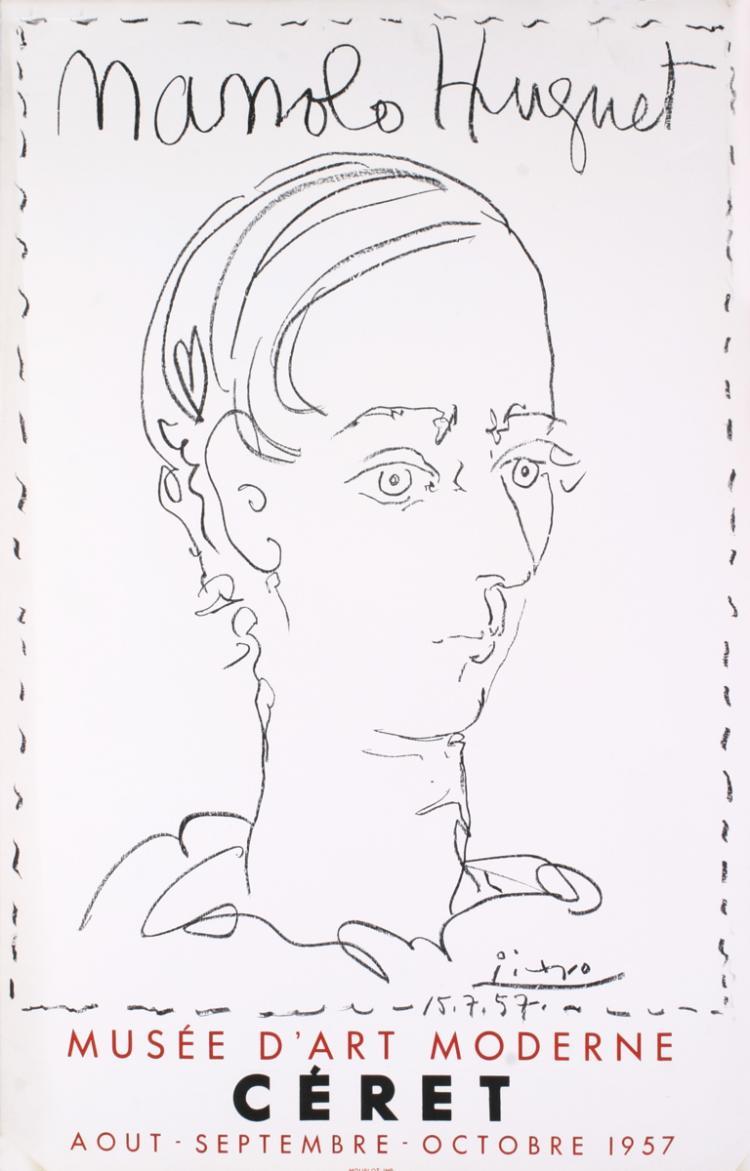 Pablo Picasso - Manolo Hugnet, Ceret, Musee D'art Moderne - 1957
