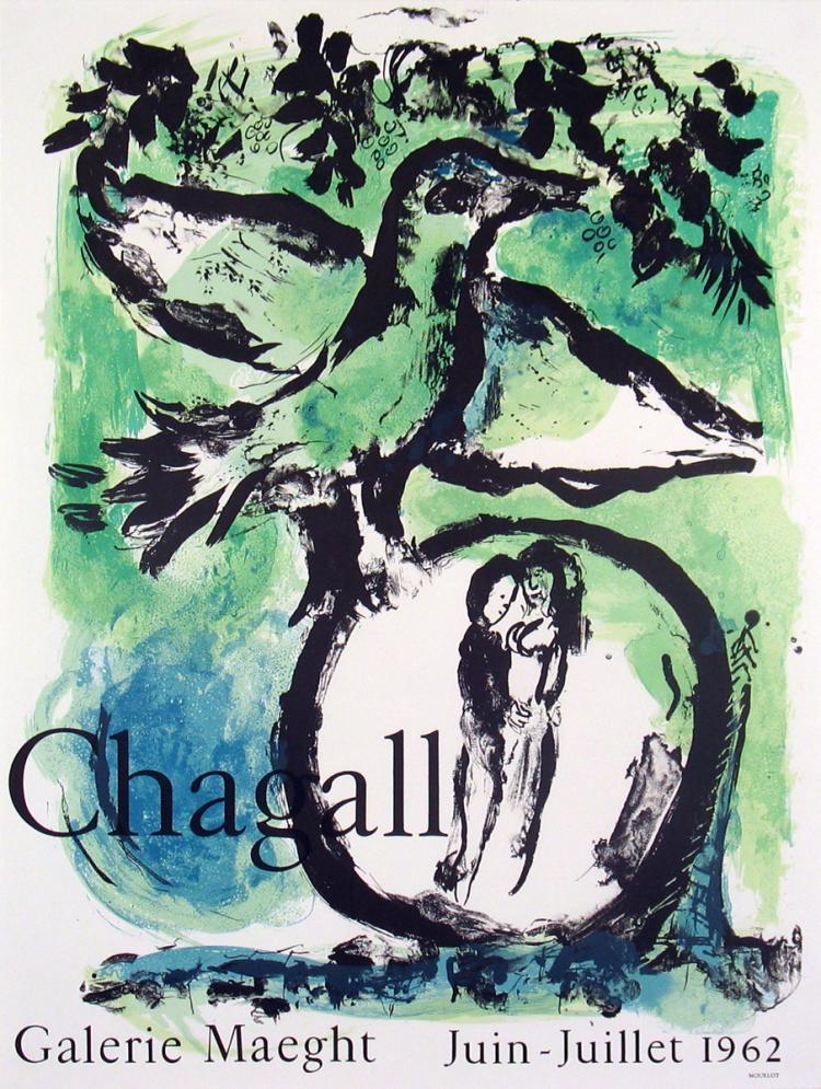 Marc Chagall - Oiseau Vert - 1962