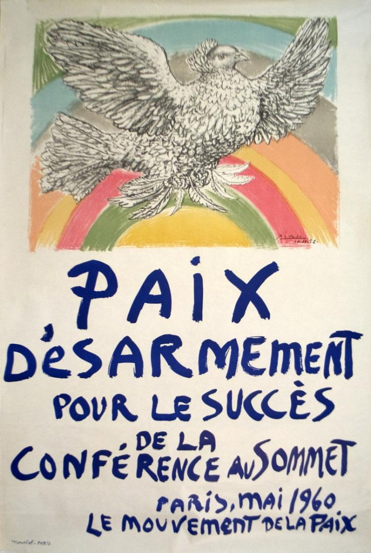 Pablo Picasso - Paix Disarmement-Peace - 1960