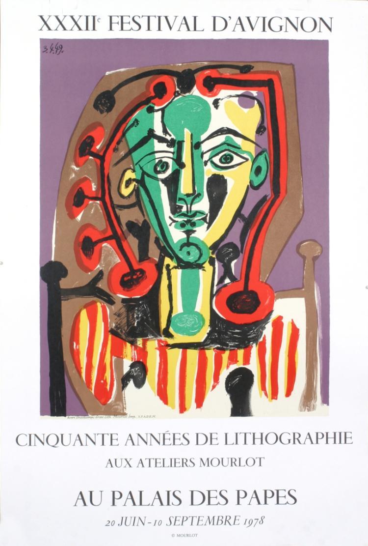 Pablo Picasso - Palais des Papes, Tete de Femme - 1978