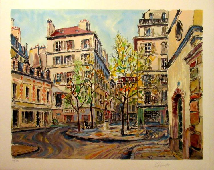 Pierre Cambier - Place De Furstemberg - SIGNED