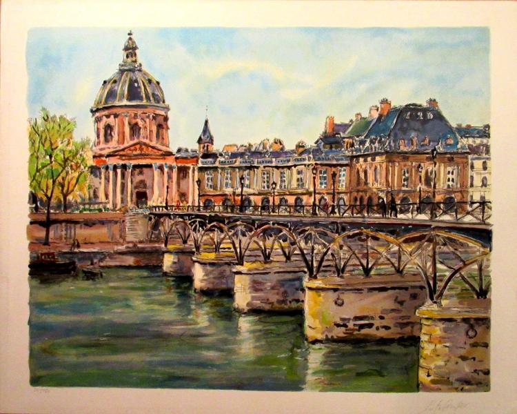 Pierre Cambier - Pont Des Arts - SIGNED
