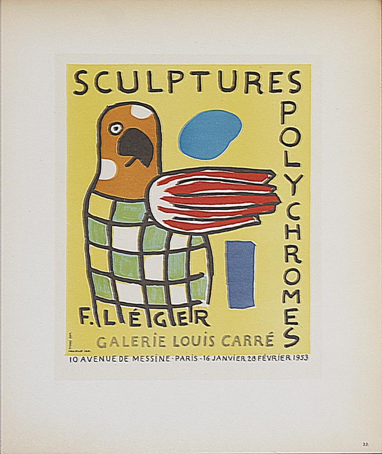 Fernand Leger - Sculptures Polychromes Galerie Louis Carre - 1959