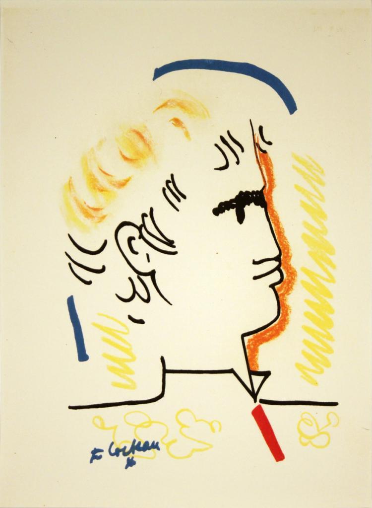 Jean Cocteau - Tete d'Homme