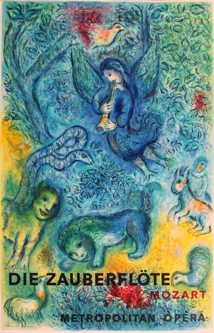 Marc Chagall - The Magic Flute (Die Zauberflote) - 1967