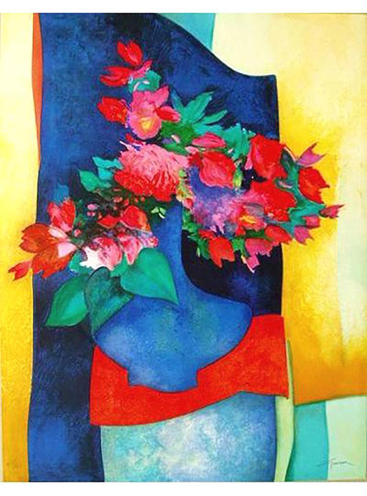 Claude Gaveau - Un Vase Bleu - SIGNED