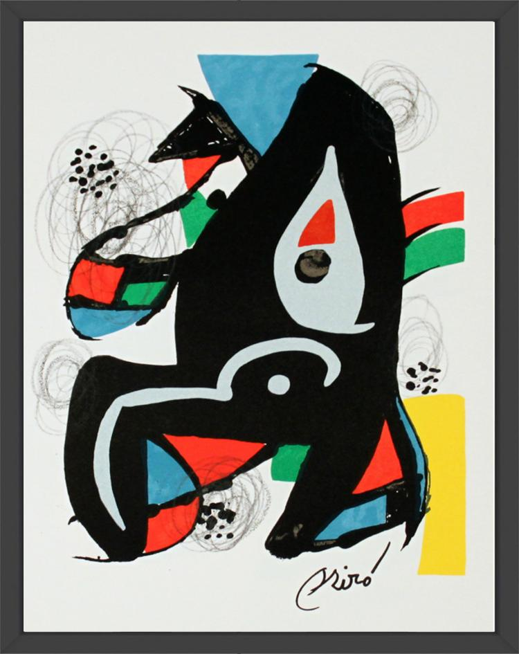 Joan Miro - Untitled from La Melodie Acide XIV - 1980
