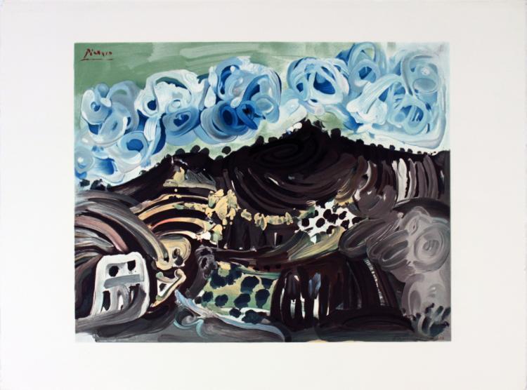 Pablo Picasso - Vue Depuis L'Atelier De L'Artiste - 1980