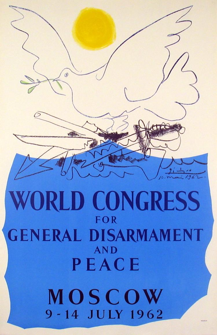 Pablo Picasso - World Congress for General Disarmament and Peace-Moscow - 1962