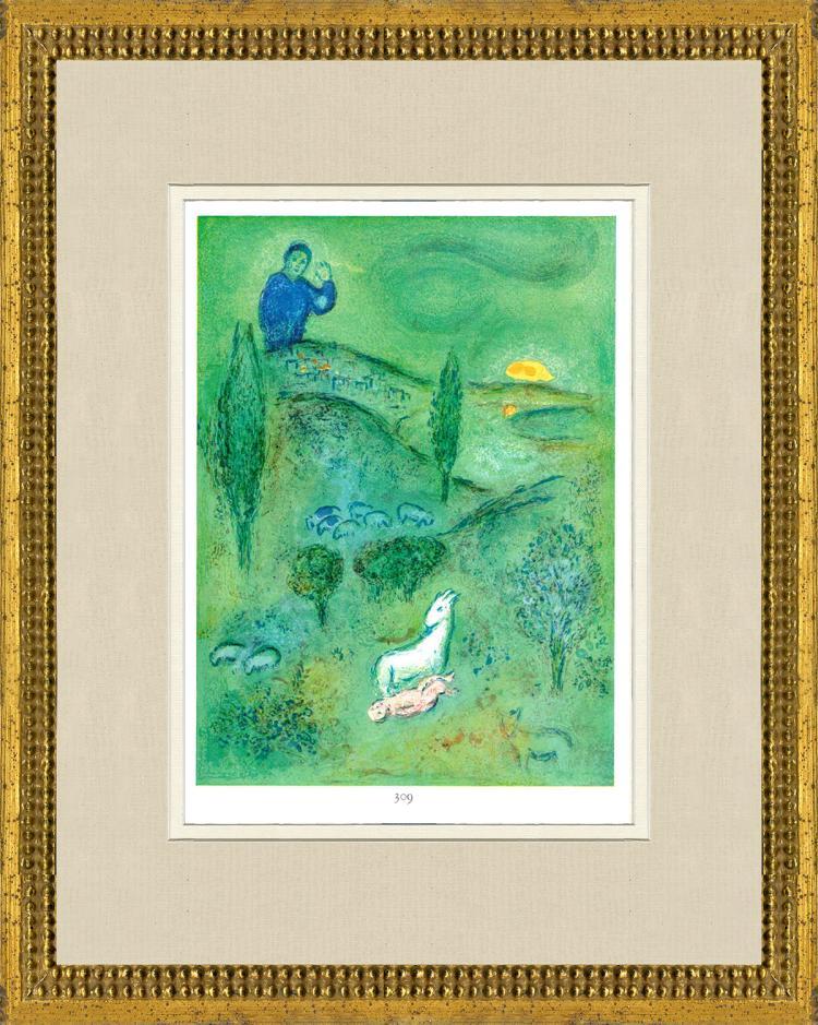 Marc Chagall - Decouverte de Daphins par Lamon - 1963