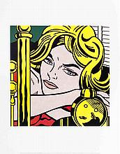 Lichtenstein Blonde Waiting Poster