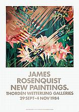 1984 Rosenquist New Painitings Poster