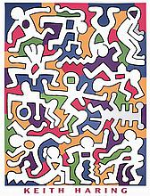 1988 Haring Untitled (Palladium Backdrop) Poster