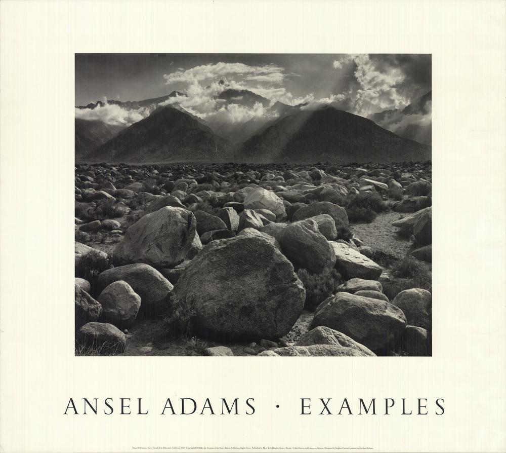 "Ansel Adams - Mount Williamson, Sierra Nevada from Manzanar, California - 1984 Offset Lithograph 25.5"" x 28.75"""