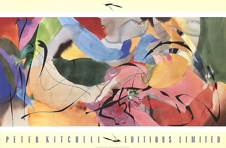 1990 Kitchell Boomerang Arrows Poster