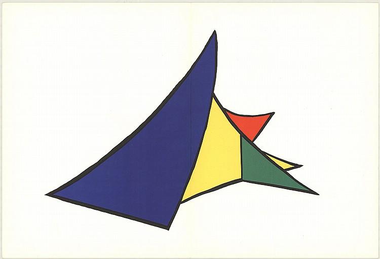 1963 calder derriere le miroir lithograph for Calder derriere le miroir