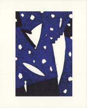"""Aki Kuroda - Bleu IV - 1999 Lithograph 10"""" x 8"""""""