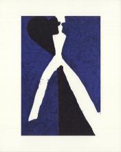 "Aki Kuroda - Bleu I - 1999 Lithograph 10"" x 8"""
