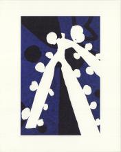 "Aki Kuroda - Bleu III - 1999 Lithograph 10"" x 8"""