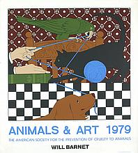 Signed 1979 Barnet Animals & Art Serigraph