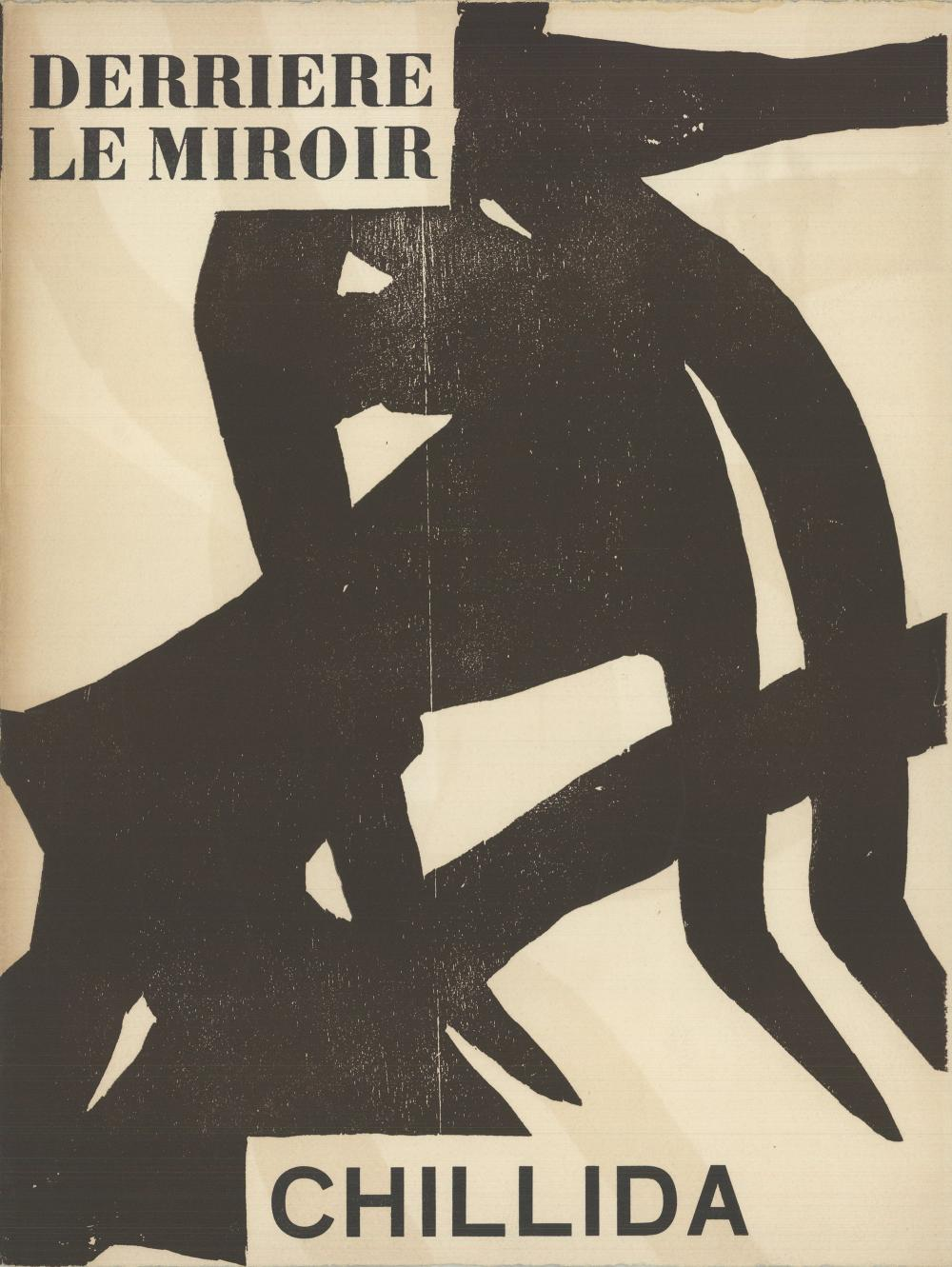 """Eduardo Chillida - DLM no 90-91 Front Cover - 1956 Woodblock 15"""" x 11"""""""