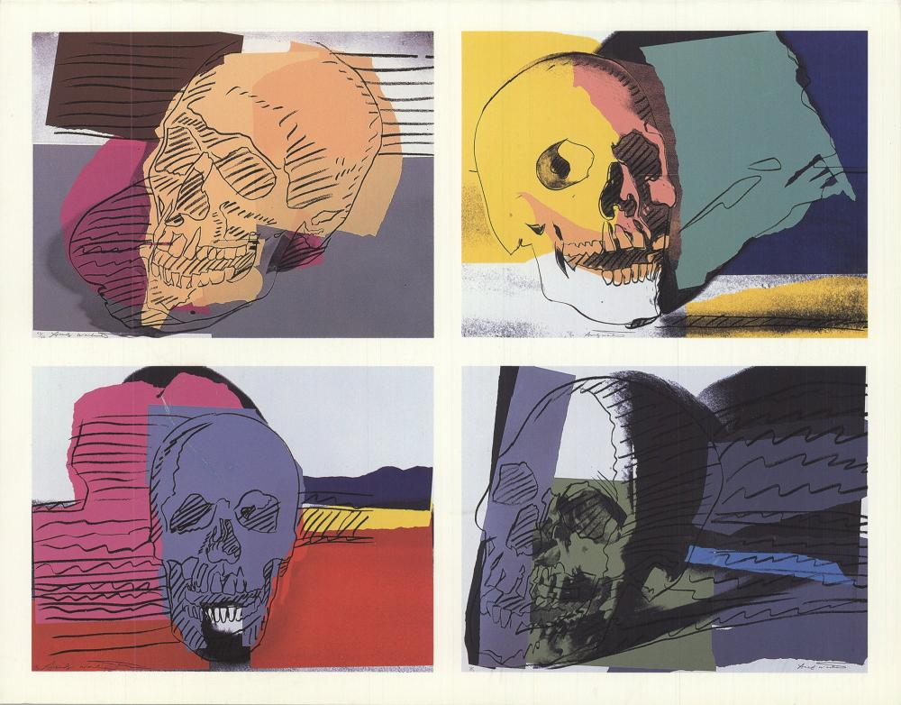 "Andy Warhol - Skulls - 1990 7"" x 9"""