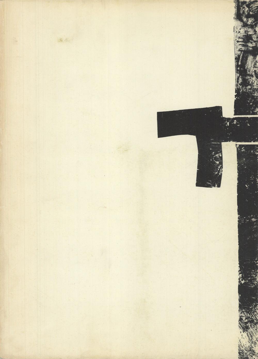 "Eduardo Chillida - Untitled - 1964 Lithograph 15"" x 11"""