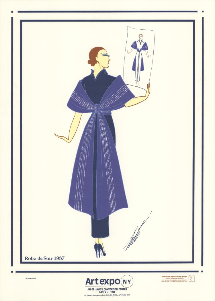 10 erte 1986 robe de soir serigraphs for Robe de soir