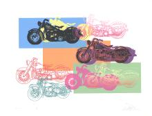 3 Assorted Friedbert Renbaum Harley Davidson Serigraphs