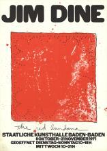 3 Assorted Jim Dine Lithographs