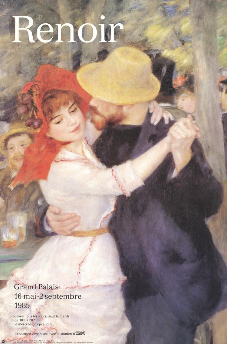 Pierre-Auguste Renoir - The Dance in Bougival (Detail) - 1985