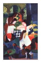 Abstract Form 14 by August Macke Giclee Fine Art Print Reproduction on Canvas