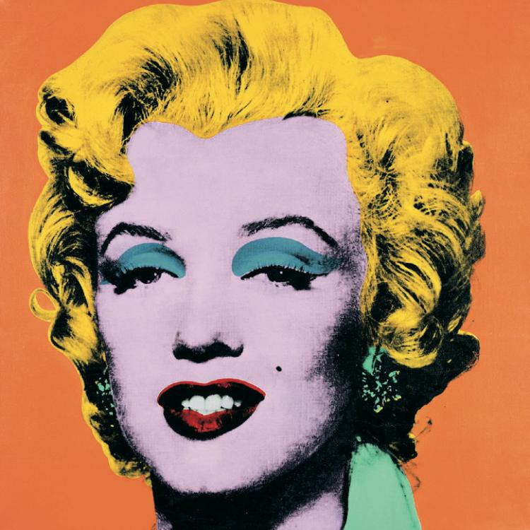 4 Assorted Andy Warhol Marilyn Monroe Large Posters