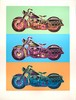 Signed 1990 Renbaum Harley Davidson x 3 Serigraph, Friedbert Renbaum, Click for value