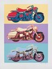 Signed 1990 Renbaum Harley Davidson Serigraph, Friedbert Renbaum, Click for value